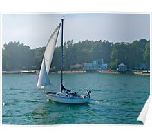 """Sailboat Brandy"" - Summer in Boston Series- © 2009 Poster"