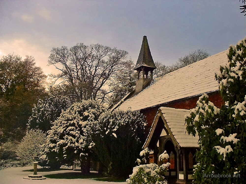 Winter - Norcliffe Chapel, Styal Village, Cheshire by John Brotheridge