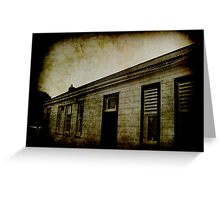 Seddon Railway Station. Greeting Card