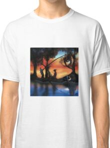 Rotating ART! two pics in one! fishing and gathering/Dali Classic T-Shirt