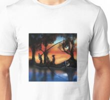 Rotating ART! two pics in one! fishing and gathering/Dali Unisex T-Shirt