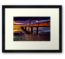 """Boardwalk to the Break O' Day"" Framed Print"