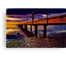 """Boardwalk to the Break O' Day"" Canvas Print"