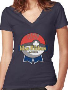 BRA SHIRT Pokéball Women's Fitted V-Neck T-Shirt
