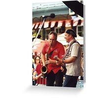Tony D and Zeek Gross Greeting Card