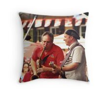 Tony D and Zeek Gross Throw Pillow