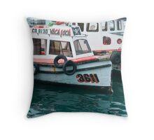 an idle fleet Throw Pillow