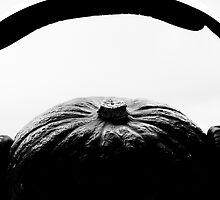 Pumkin with headphones on by yurix