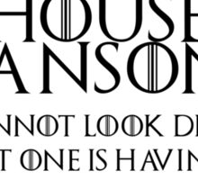 House Janson (black text) Sticker