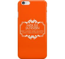 House Janson (white text) iPhone Case/Skin
