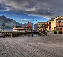 Queenstown Harbour at Dawn by Antony Burton