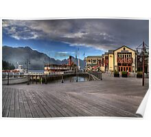 Queenstown Harbour at Dawn Poster