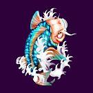 koi fish by yvonne willemsen
