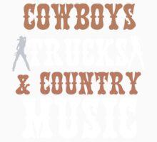 COWBOYS TRUCKS COUNTY MUSIC Kids Tee