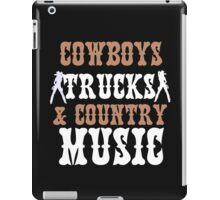 COWBOYS TRUCKS COUNTY MUSIC iPad Case/Skin