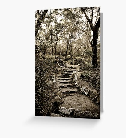 Just a few more steps ... Greeting Card