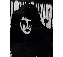Ink on glass Depressed woman  Photographic Print
