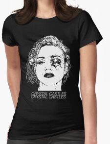 Crystal Castles (Black) Womens Fitted T-Shirt