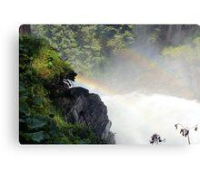 Waterfall with Rainbow's Canvas Print