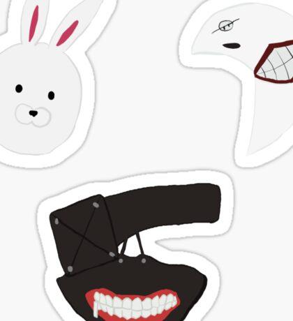 Tokyo Ghoul Masks Sticker