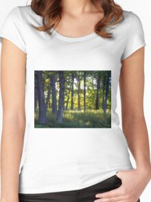 Illuminated Woods Women's Fitted Scoop T-Shirt