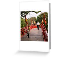 Boys on the Bridge Greeting Card