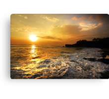 Sunset In Bali Canvas Print