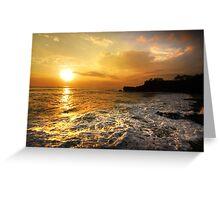Sunset In Bali Greeting Card