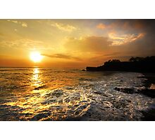 Sunset In Bali Photographic Print