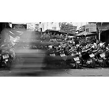Lined up Bikes Photographic Print