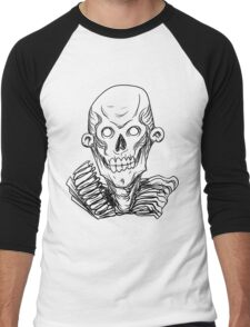 Zombie Skull Head Men's Baseball ¾ T-Shirt