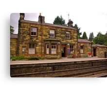 Booking Office - Goathland Station. Canvas Print