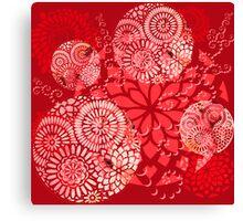 The Red Garden Canvas Print