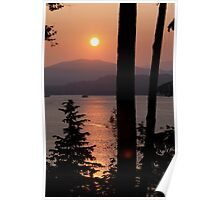 Sunset Over Burard Inlet Poster