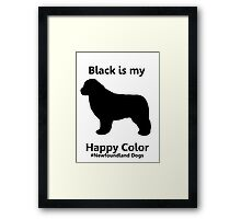 Black Is My Happy Color Framed Print