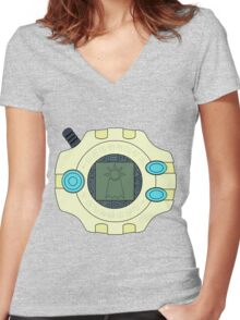 Digimon digivice Hope Women's Fitted V-Neck T-Shirt