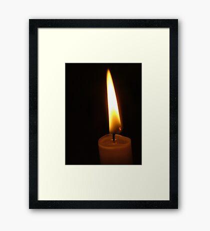 Flame Framed Print