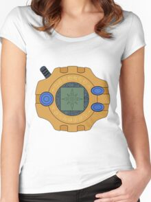 Digimon digivice Courage Women's Fitted Scoop T-Shirt