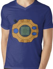 Digimon digivice Courage Mens V-Neck T-Shirt