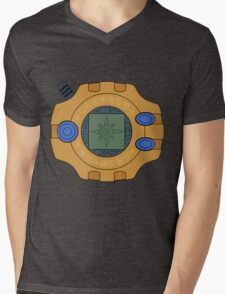 Digimon digivice Courage Mens V-Neck T-Shirt