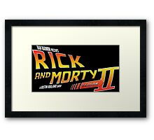 Rick and Morty Season 2 - BTTF Logo Framed Print