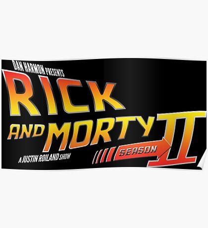 Rick and Morty Season 2 - BTTF Logo Poster
