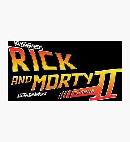 Rick and Morty Season 2 - BTTF Logo Photographic Print