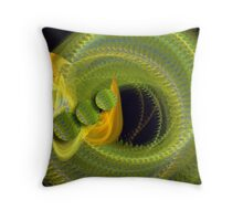 Movement in green Throw Pillow