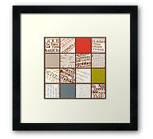 From the Good book of Omens Framed Print
