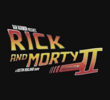 Rick and Morty Season 2 - BTTF Logo T-Shirt