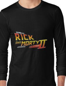 Rick and Morty Season 2 - BTTF Logo Long Sleeve T-Shirt