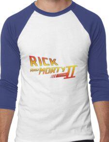 Rick and Morty Season 2 - BTTF Logo Men's Baseball ¾ T-Shirt