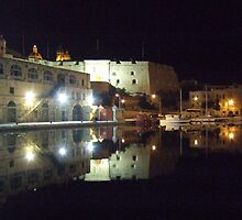 Reflection Dock No.1 Grand Harbour Malta by DeborahDinah