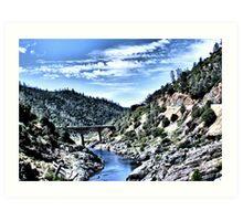 American River Confluence Art Print